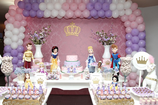 princess themed kiddie party